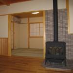 暖炉と和室